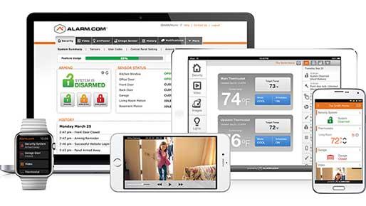 interactive alarm system application