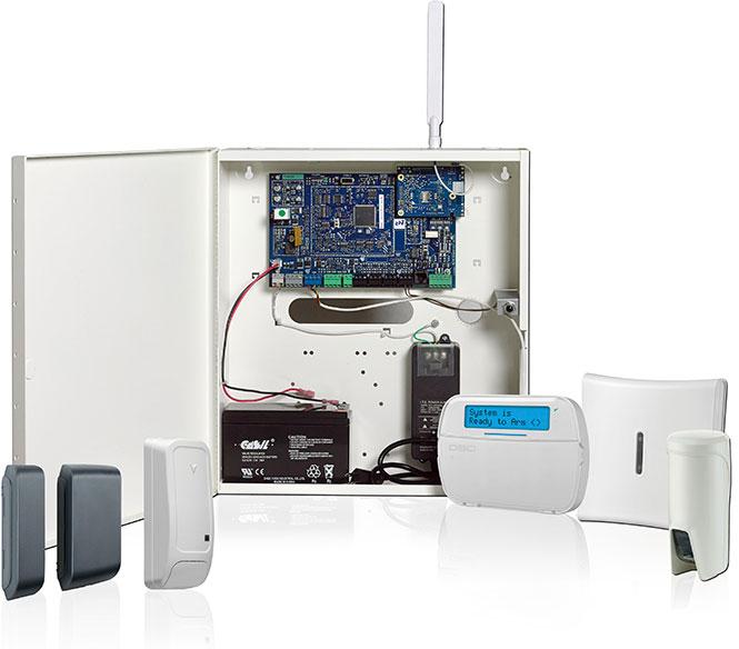 Hybrid commercial alarm system